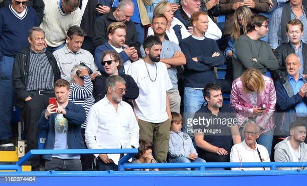 Kasabian's Sergio Pizzorno is in attendance for the Premier League match between Chelsea FC and Leicester City at Stamford Bridge on August 18 2019...