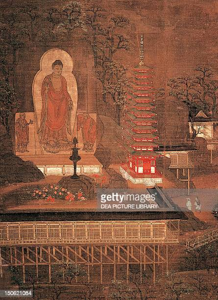 Kasagi Mandara painting on silk Japan Japanese Civilisation Kamakura period 12th14th century