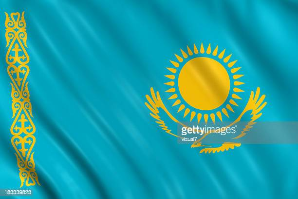 kasakhstan flag - kazakhstan stock pictures, royalty-free photos & images
