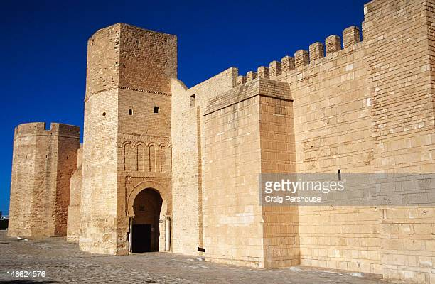 kasbah and city walls. - sousse stock pictures, royalty-free photos & images