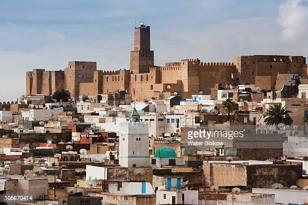 kasbah and sousse archeological museum - sousse stock pictures, royalty-free photos & images