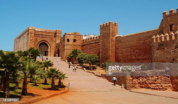 kasbah of oudaya - rabat morocco stock pictures, royalty-free photos & images