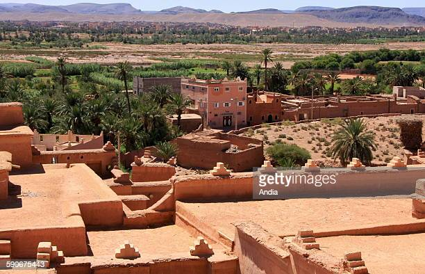 Kasbah of Taourirt in Morocco. Built by the powerful Glaoui tribe , it's an ancient monument listed Unesco World Heritage Site. It used to be, during...