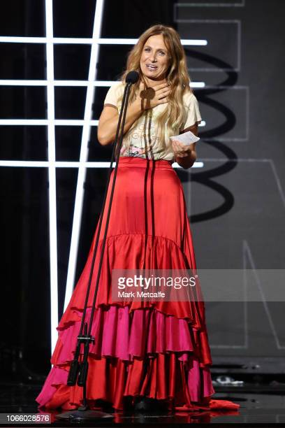 Kasey Chambers is inducted into the ARIA Hall of Fame during the 32nd Annual ARIA Awards 2018 at The Star on November 28 2018 in Sydney Australia