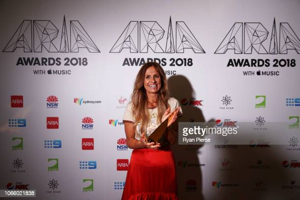 Kasey Chambers poses in the awards room after being inducted into the ARIA Hall of Fame during the 32nd Annual ARIA Awards 2018 at The Star on...