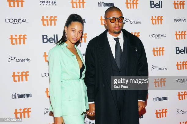 Kasey Elise and Mikey Alfred attend the Mid90s premiere during 2018 Toronto International Film Festival at Ryerson Theatre on September 9 2018 in...