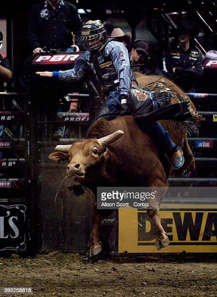 Kasey Hayes rides his bull Lug Nut Hayes was bucked off in 398 seconds