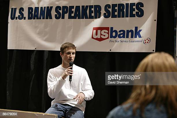 Kasey Kahne 2004 Nascar rookie of the year speaks at the US Bank Speaker Series prior to the Minnesota Timberwolves and the New Orleans/Oklahoma City...