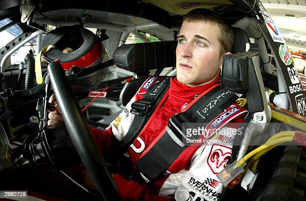 Kasey Kahne aboard the Evernham Motorsports Dodge during practice for the NASCAR Nextel Cup Daytona 500 on February 14 2004 at the Daytona...