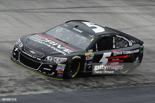 Kasey Kahne driver of the AARP Drive to End Hunger Chevrolet practices for the NASCAR Sprint Cup Series Bass Pro Shops NRA Night Race at Bristol...