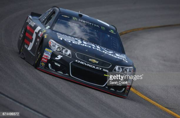 Kasey Kahne driver of the AARP Drive to End Hunger Chevrolet practices for the Monster Energy NASCAR Cup Series Toyota Owners 400 at Richmond...