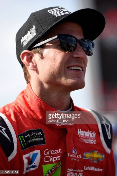 Kasey Kahne driver of the AARP Drive to End Hunger Chevrolet looks on from the grid during qualifying for the Monster Energy NASCAR Cup Series Toyota...
