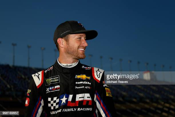 Kasey Kahne driver of the Dark Matter presented by Ionomy Chevrolet stands on the grid during qualifying for the Monster Energy NASCAR Cup Series...