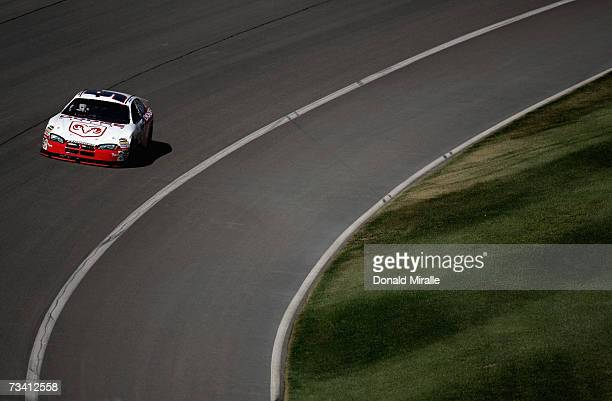 Kasey Kahne, driver of the Dodge Dealers/UAW Dodge, drives during practice for the NASCAR Nextel Cup Series Auto Club 500 at California Speedway on...