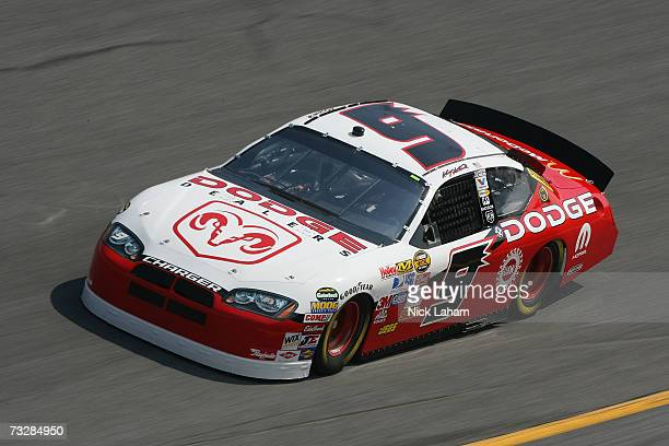 Kasey Kahne, driver of the Dodge Dealers/UAW Dodge practices for the Daytona 500 at Daytona International Speedway on February 10, 2007 in Daytona,...