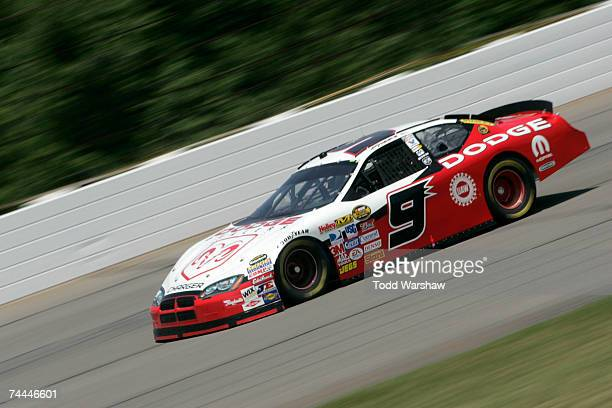 Kasey Kahne driver of the Dodge Dealers/UAW Dodge races during practice for the NASCAR Nextel Cup Series Pocono 500 at Pocono Raceway on June 8 2007...