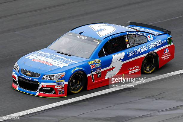 Kasey Kahne driver of the Drive Home A Winner Chevrolet practices for the NASCAR Sprint Cup Series Sprint AllStar Race at Charlotte Motor Speedway on...