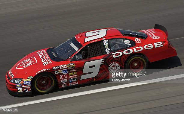 Kasey Kahne driver of the Evernham Motorsports Dodge during practice for the Coca Cola 600 on May 27 2004 at Lowes Motor Speedway in Concord North...