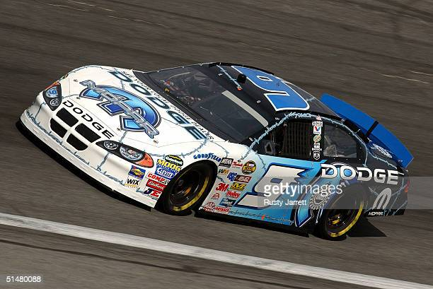 Kasey Kahne driver of the Evernham Motorsports Dodge during practice for the NASCAR Nextel Cup Series UAWGM Quality 500 on October 14 2004 at Lowes...