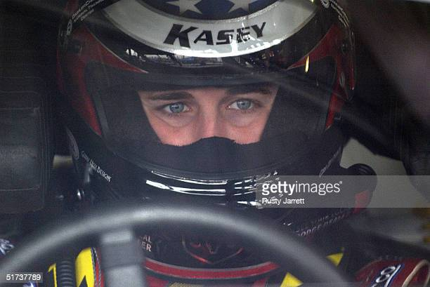Kasey Kahne driver of the Evernham Motorsports Dodge during practice for the NASCAR Nextel Cup Series Mountain Dew Southern 500 on November 13 2004...