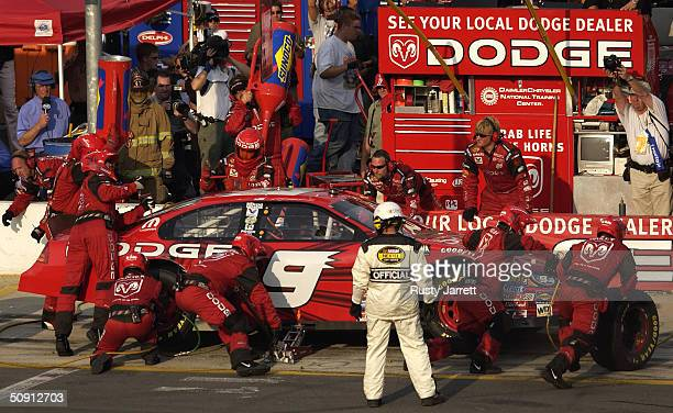 Kasey Kahne driver of the Evernham Motorsports Dodge during the Coca Cola 600 on May 30 2004 at Lowes Motor Speedway in Concord North Carolina
