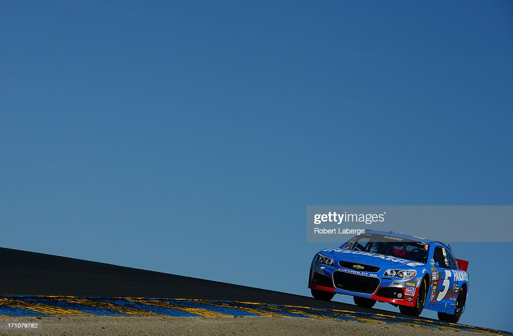 Kasey Kahne, driver of the #5 Farmers Insurance Chevrolet, drives during practice for the NASCAR Sprint Cup Series Toyota/Save Mart 350 at Sonoma Raceway on June 21, 2013 in Sonoma, California.