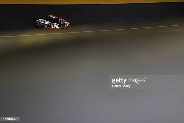 Kasey Kahne driver of the Haas Automation Chevrolet races during the NASCAR Camping World Truck Series North Carolina Education Lottery 200 at...