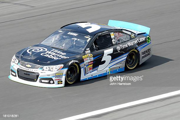 Kasey Kahne driver of the Time Warner Cable Chevrolet during practice for the NASCAR Sprint Cup Series CocaCola 600 at Charlotte Motor Speedway on...