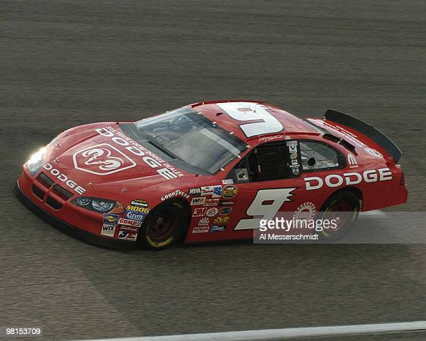 Kasey Kahne drives during a practice session for the Subway 400 NASCAR race February 21 2004 at North Carolina Speedway Rockingham North Carolina