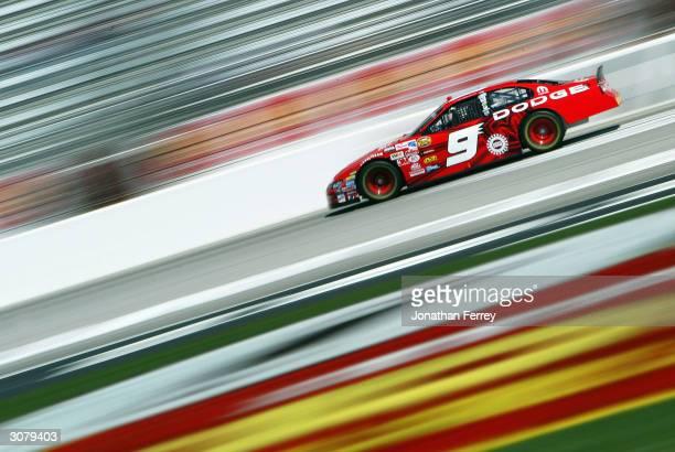 Kasey Kahne drives his Evernham Motorsports Dodge during practice for the NASCAR Nextel Cup Golden Corral 500 on March 12 2004 at Atlanta Motor...
