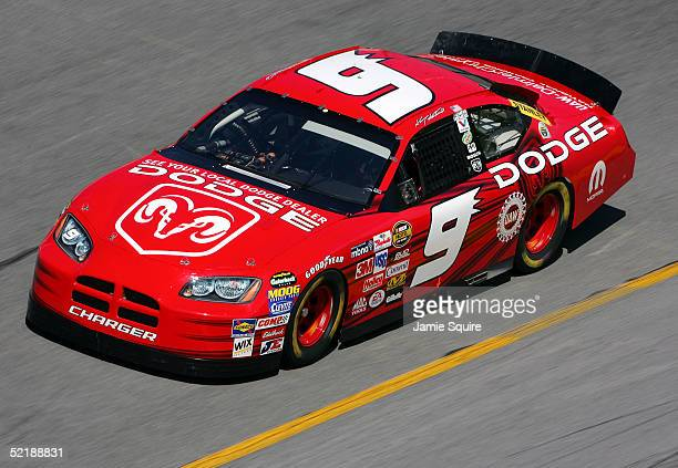 Kasey Kahne drives the Evernham Motorsports Dodge during practice for the NASCAR Nextel Cup Daytona 500 on February 12 2005 at the Daytona...