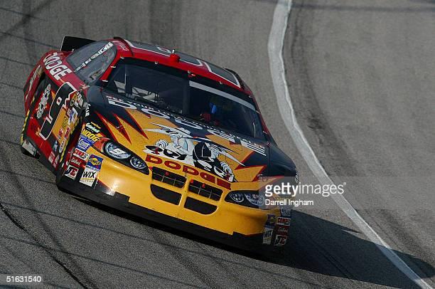 Kasey Kahne drives the Evernham Motorsports Dodge during the NASCAR Nextel Cup Series Bass Pro Shops MBNA 500 on October 31 2004 at the Atlanta Motor...