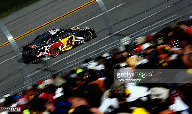 Kasey Kahne drives the Red Bull Toyota during the NASCAR Sprint Cup Series Aaron's 499 at Talladega Superspeedway on April 17 2011 in Talladega...