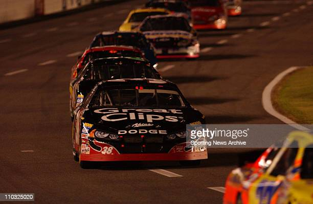 NASCAR Kasey Kahne during the Busch Series SpongeBob SquarePants Movie 300 race at Lowe's Motor Speedway in Concord NC on Oct 15 2004