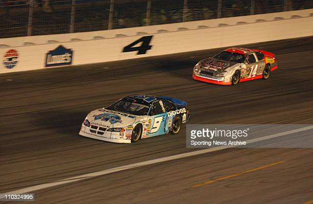 NASCAR Kasey Kahne John Andretti during the Nextel cup UAWGM Quality 500 at Lowe's Motor Speedway in Concord NC on Oct 16 2004