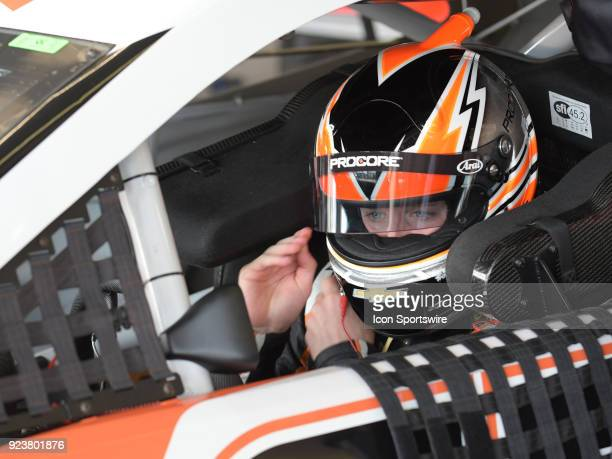 Kasey Kahne Leavine Family Racing Procore Habitat For Humanity Chevrolet Camaro in his car during practice for the Monster Energy Cup Series Folds of...