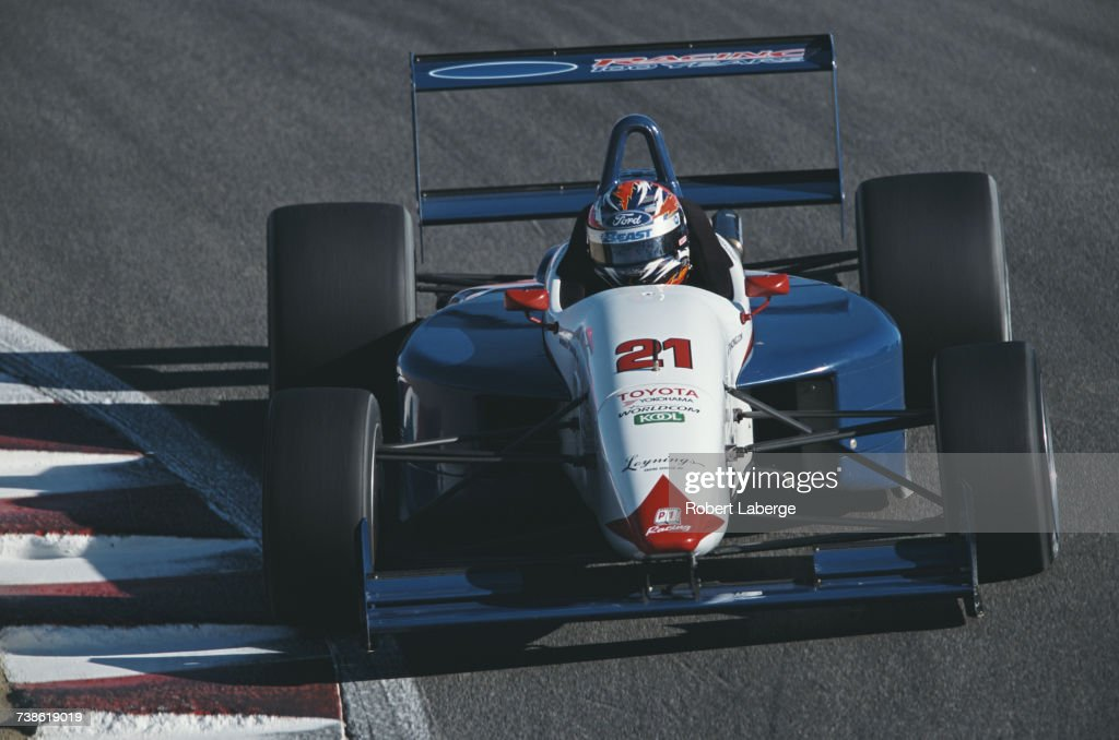 Kasey Kahne of the United States drives the #21 P1 Racing Swift 011c Toyota during the Championship Auto Racing Teams (CART) Toyota Atlantic Championship Series Formula Atlantic Grand Prix of Monterey on 14 October 2001 at the Laguna Seca Raceway, Monterey, California, United States.