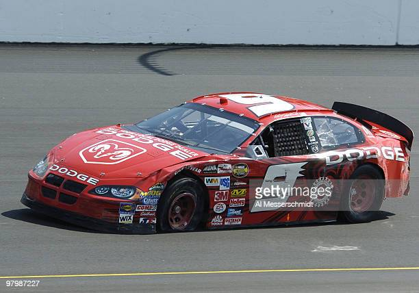 Kasey Kahne wrecks during qualifying in the NASCAR Nextel Cup Series Chevy American Revolution 400 at Richmond International Raceway May 14 2004