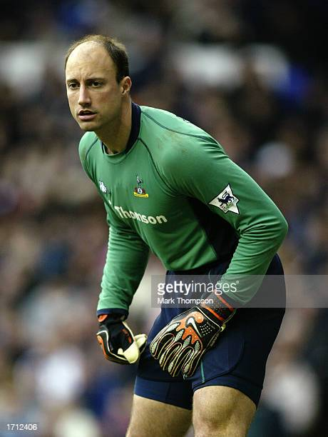 Kasey Keller of Tottenham Hotspur anticipating an effort towards goal during the FA Barclaycard Premiership match betweeen Tottenham Hotspur and...