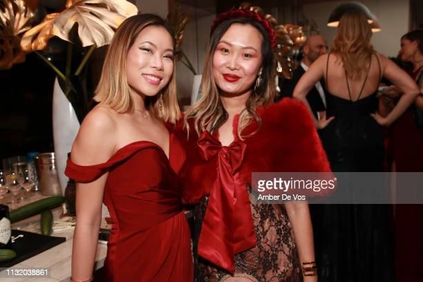 Kasey Ma and Mary Gui attend Faviana's Annual Oscars Red Carpet Viewing Party on February 24 2019 in New York City