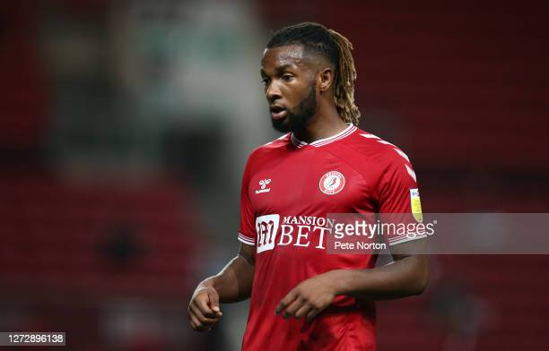 Kasey Palmer of Bristol City in action during the Carabao Cup Second Round match between Bristol City and Northampton Town at Ashton Gate on...