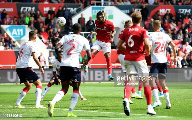 Kasey Palmer of Bristol City scores his sides first goal during the Sky Bet Championship match between Bristol City and Middlesbrough at Ashton Gate...