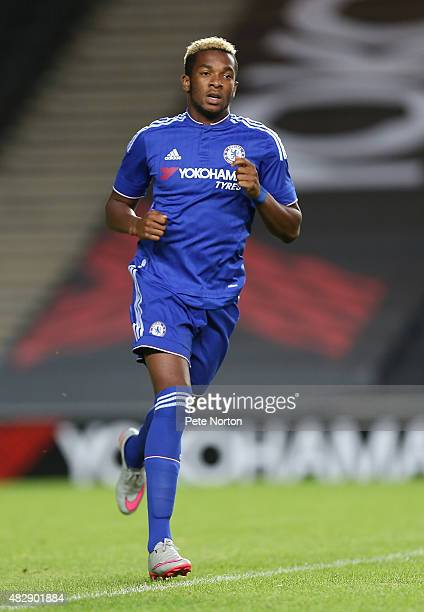 Kasey Palmer of Chelsea in action during the PreSeason Friendly match between MK Dons and Chelsea XI at Stadium mk on August 3 2015 in Milton Keynes...