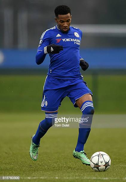 Kasey Palmer of Chelsea in action during the UEFA Youth League quarter final match between Chelsea and Ajax at Chelsea Training Ground on March 15...