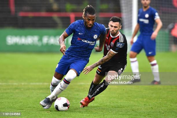 Kasey Palmer of Chelsea runs with the ball during the Pre-Season Friendly match between Bohemians FC and Chelsea FC at Dalymount Park on July 10,...