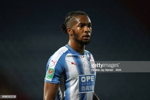 Kasey Palmer of Huddersfield Town during the Carabao Cup Second Round match between Huddersfield Town and Rotherham United at The John Smiths Stadium...