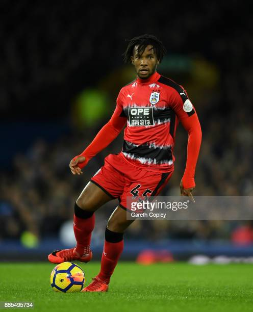 Kasey Palmer of Huddersfield Town during the Premier League match between Everton and Huddersfield Town at Goodison Park on December 2 2017 in...