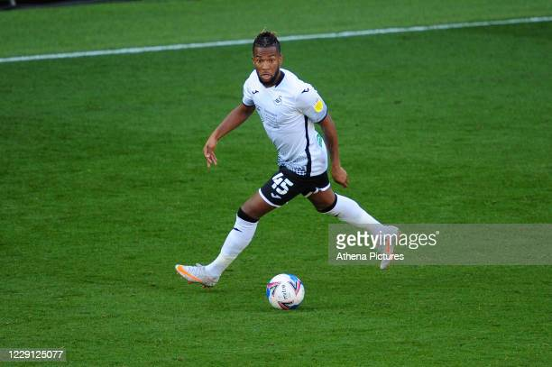 Kasey Palmer of Swansea City in action during the Sky Bet Championship match between Swansea City and Huddersfield Town at the Liberty Stadium on...
