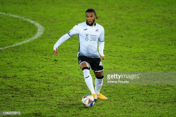 Kasey Palmer of Swansea City in action during the Sky Bet Championship match between Swansea City and AFC Bournemouth at the Liberty Stadium on...