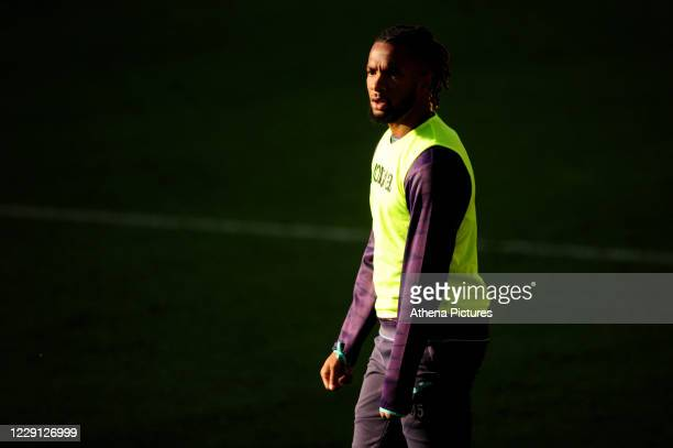 Kasey Palmer of Swansea City warms up during half time for the Sky Bet Championship match between Swansea City and Huddersfield Town at the Liberty...